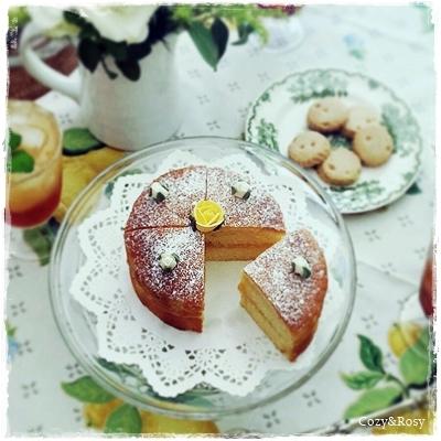 レモンカードのヴィクトリアサンドイッチ