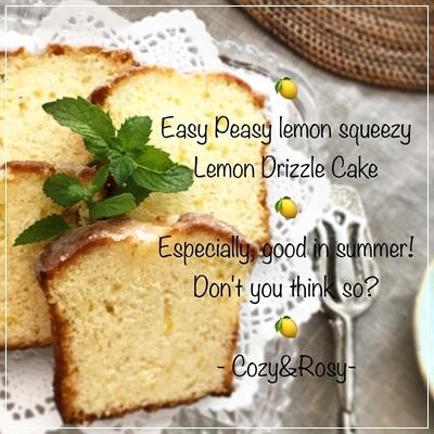レモンドリズルパウンドケーキ