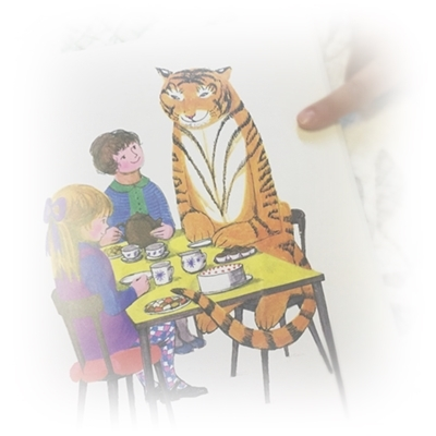 絵本 Tiger Who Came to Tea