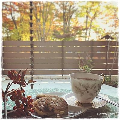 ウェルシュケーキで秋のティータイム
